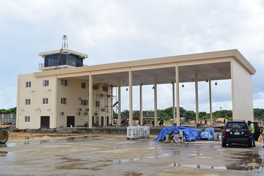 The Construction of Fire Bay, Emergency Unit and Control Tower at The Bayelsa State International Airport, Wilberforce Island