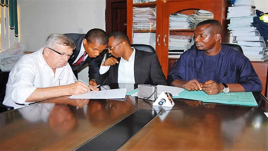 Contract signing with the Honourable Commissioner for Works, Bayelsa State