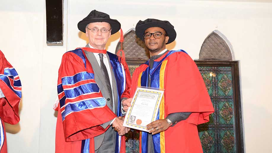 Our Chairman Dr Hamza M. G. Nasko was awarded an honorary doctorate degree by The London Graduate School a Commonwealth University on the 18th December 2015