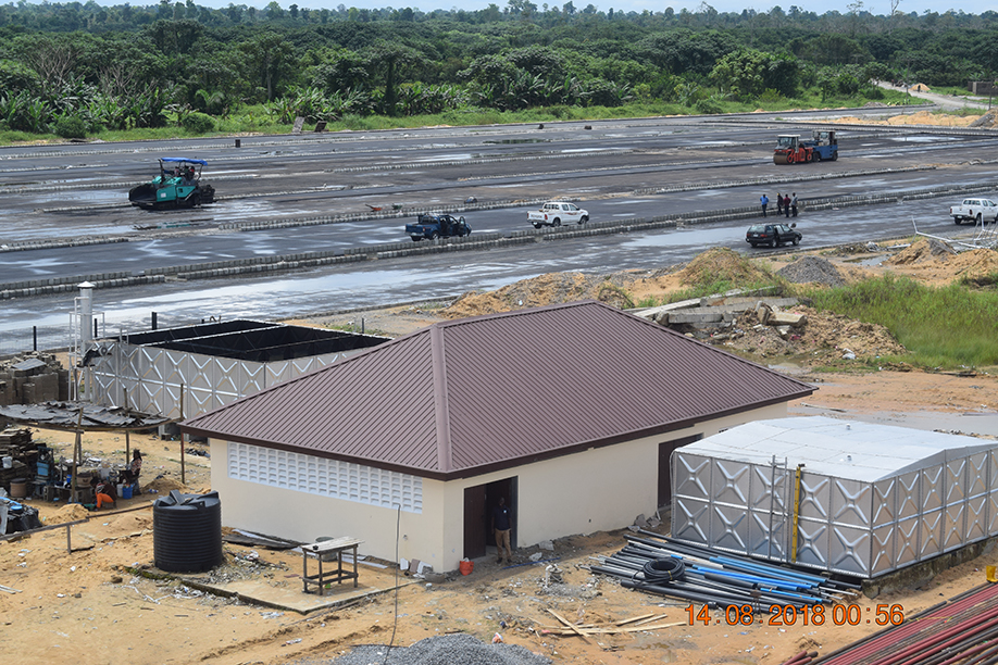 The Construction of water supply system at the Bayelsa State International Airport, Wilberforce Island